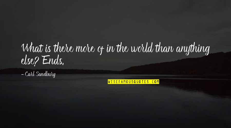 Aj Miller Quotes By Carl Sandburg: What is there more of in the world
