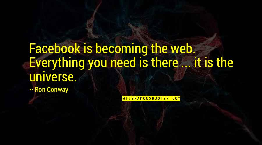 Akin Ka Nalang Quotes By Ron Conway: Facebook is becoming the web. Everything you need