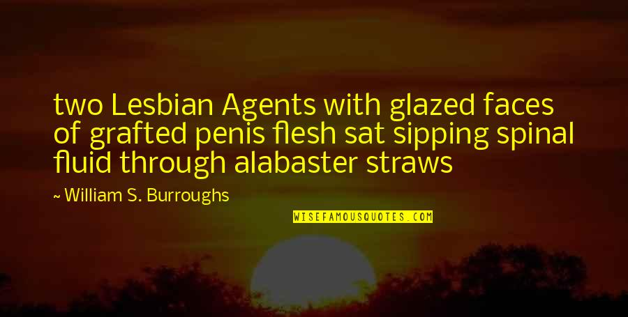Alabaster Quotes By William S. Burroughs: two Lesbian Agents with glazed faces of grafted