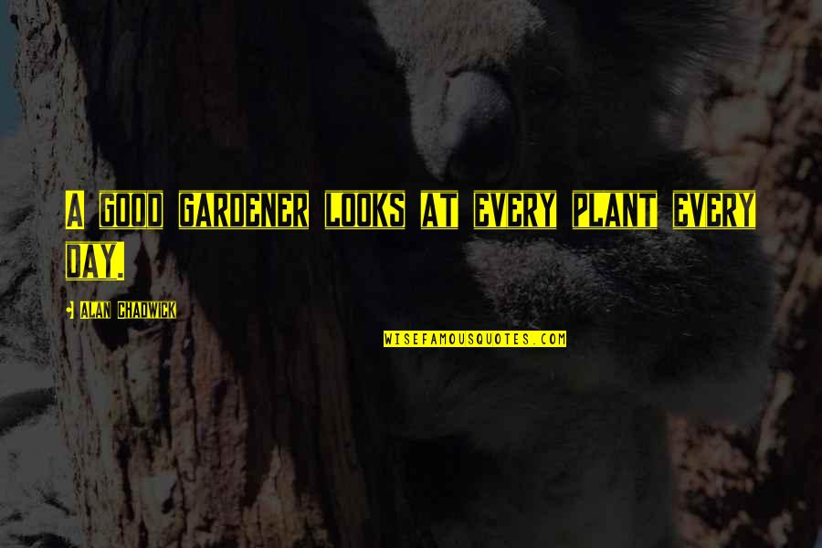 Alan Chadwick Quotes By Alan Chadwick: A good gardener looks at every plant every