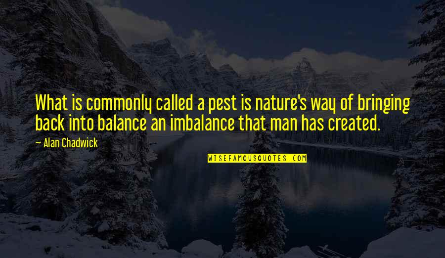 Alan Chadwick Quotes By Alan Chadwick: What is commonly called a pest is nature's