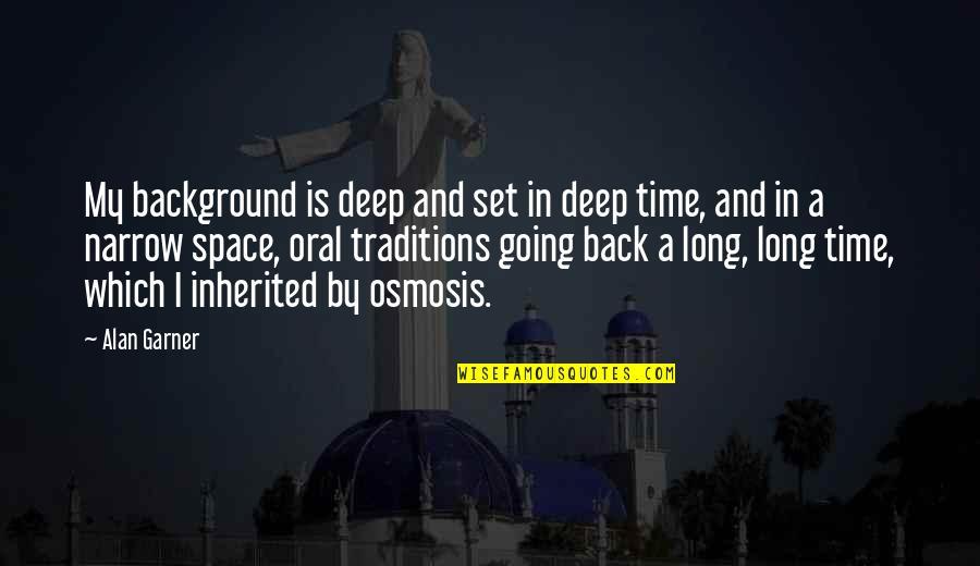 Alan Garner Quotes By Alan Garner: My background is deep and set in deep