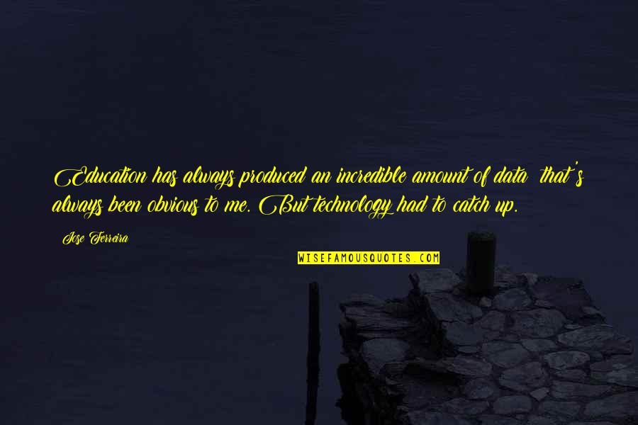Alan Hangover Satchel Quotes By Jose Ferreira: Education has always produced an incredible amount of