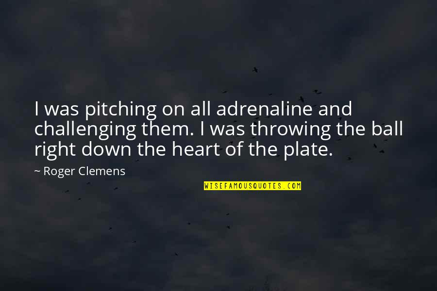 Albert Howard Quotes By Roger Clemens: I was pitching on all adrenaline and challenging