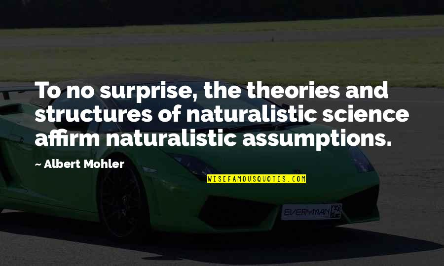 Albert Mohler Quotes By Albert Mohler: To no surprise, the theories and structures of