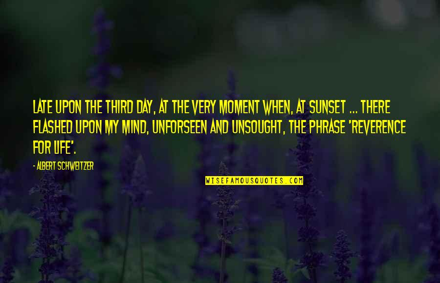 Albert Schweitzer Quotes By Albert Schweitzer: Late upon the third day, at the very