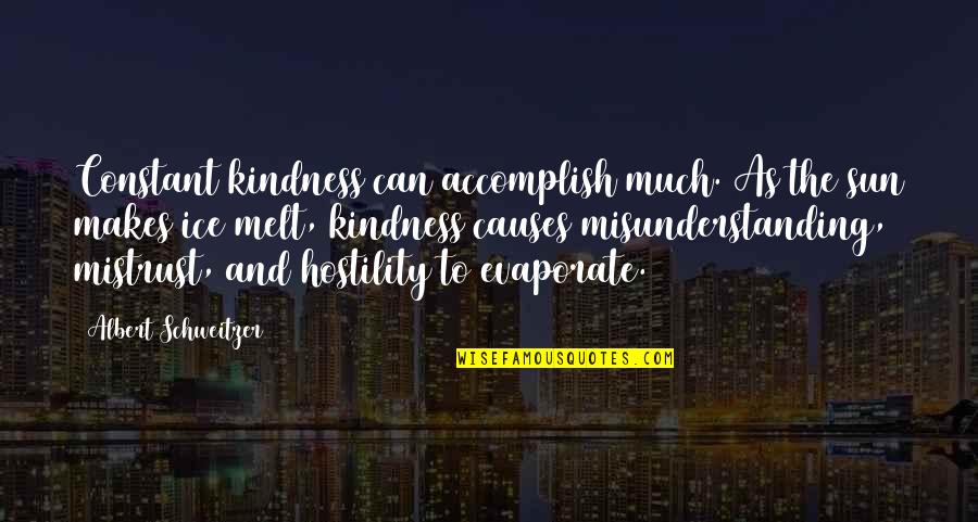 Albert Schweitzer Quotes By Albert Schweitzer: Constant kindness can accomplish much. As the sun