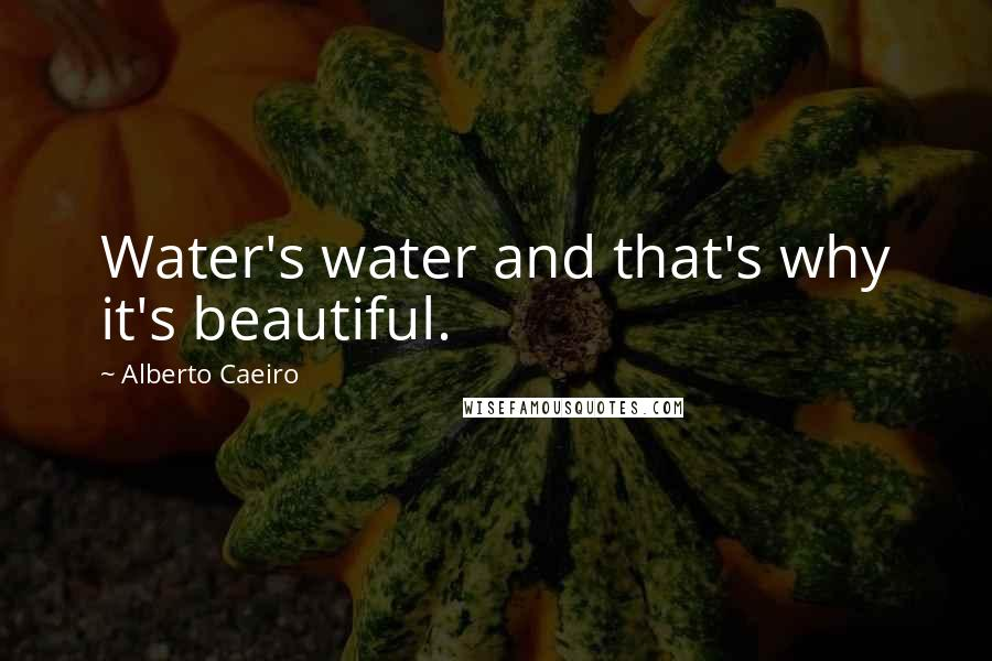 Alberto Caeiro quotes: Water's water and that's why it's beautiful.