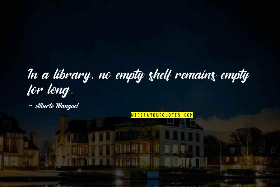 Alberto Quotes By Alberto Manguel: In a library, no empty shelf remains empty