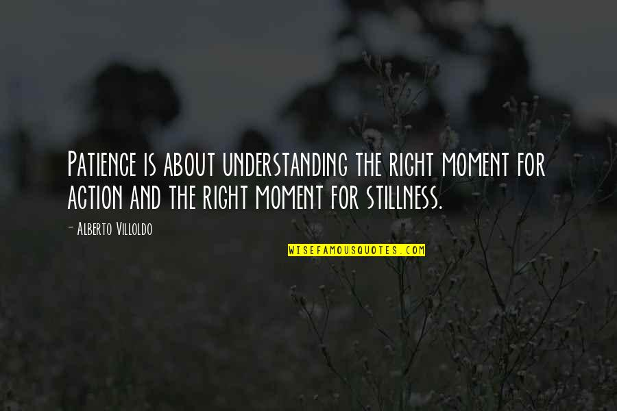 Alberto Quotes By Alberto Villoldo: Patience is about understanding the right moment for