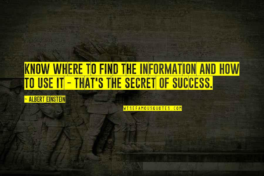 Albert's Quotes By Albert Einstein: Know where to find the information and how