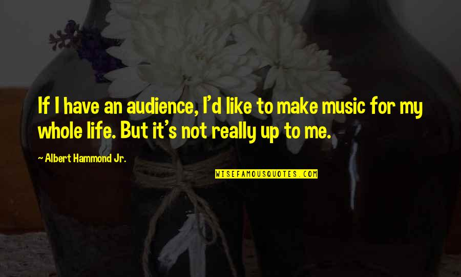 Albert's Quotes By Albert Hammond Jr.: If I have an audience, I'd like to