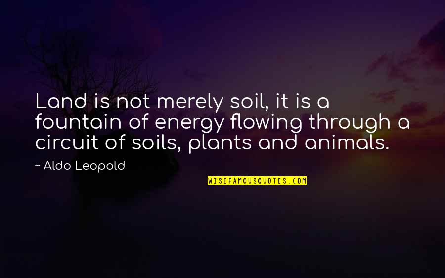 Aldo Leopold Quotes By Aldo Leopold: Land is not merely soil, it is a