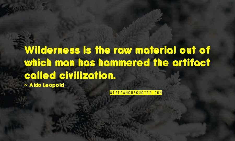 Aldo Leopold Quotes By Aldo Leopold: Wilderness is the raw material out of which