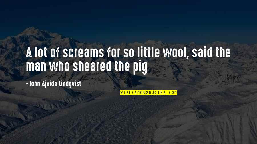 Alessandra Neymar Quotes By John Ajvide Lindqvist: A lot of screams for so little wool,