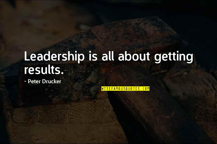 Alex Avila Quotes By Peter Drucker: Leadership is all about getting results.