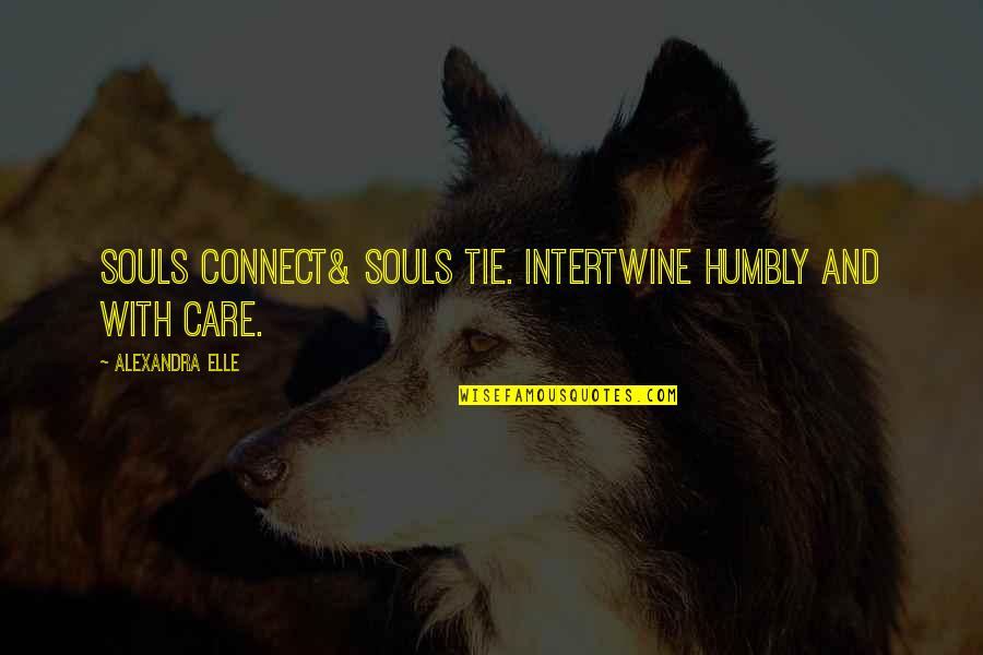 Alex Elle Quotes By Alexandra Elle: Souls connect& souls tie. intertwine humbly and with