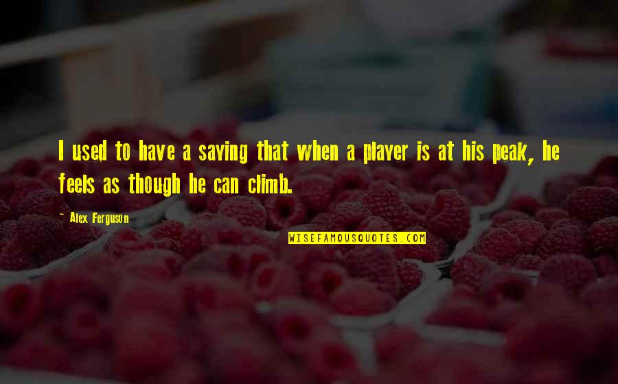 Alex Ferguson Quotes By Alex Ferguson: I used to have a saying that when