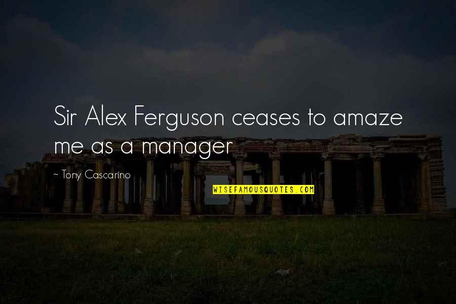 Alex Ferguson Quotes By Tony Cascarino: Sir Alex Ferguson ceases to amaze me as