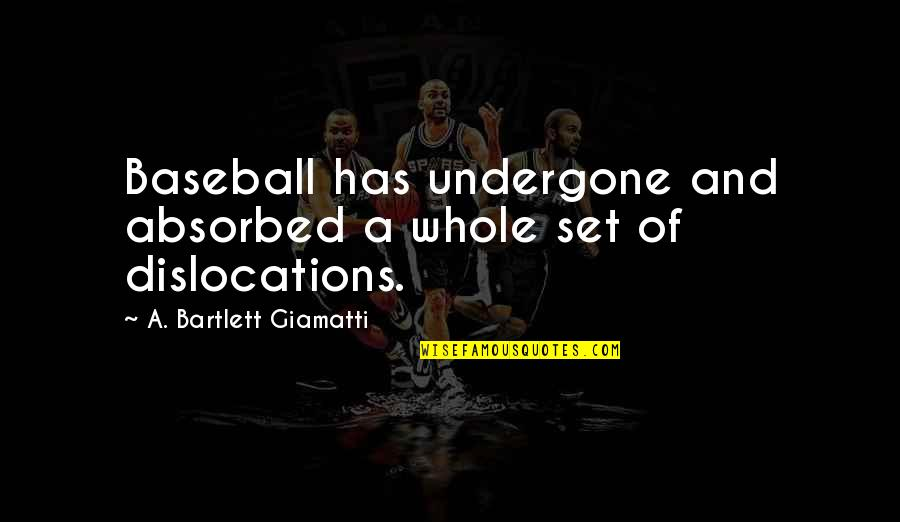Alex Higgins Quotes By A. Bartlett Giamatti: Baseball has undergone and absorbed a whole set