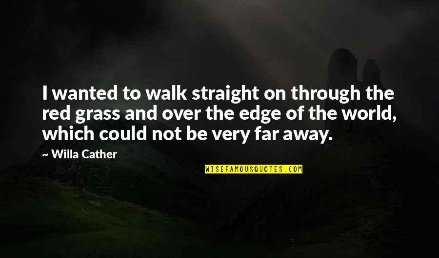 Alexander Alekhine Quotes By Willa Cather: I wanted to walk straight on through the