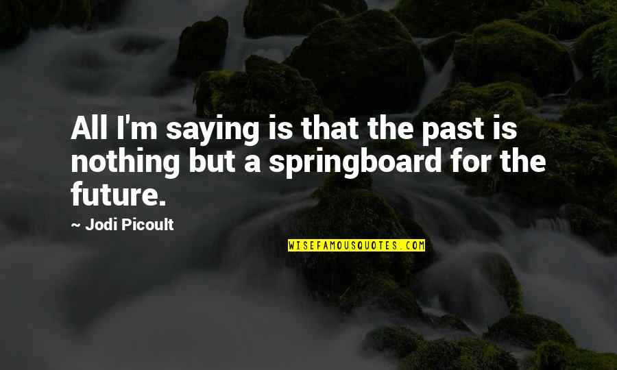 Alexandra Ansanelli Quotes By Jodi Picoult: All I'm saying is that the past is