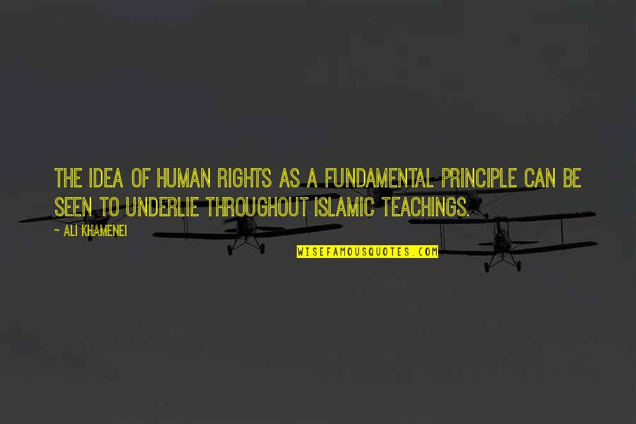 Ali As Quotes By Ali Khamenei: The idea of human rights as a fundamental