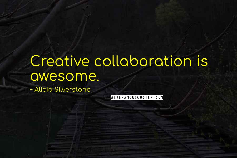 Alicia Silverstone quotes: Creative collaboration is awesome.