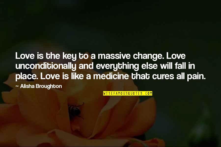 Alisha Quotes By Alisha Broughton: Love is the key to a massive change.