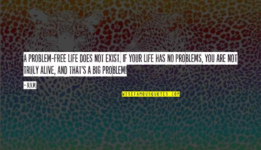 Alive And Free Quotes By R.v.m.: A problem-free life does not exist. If your
