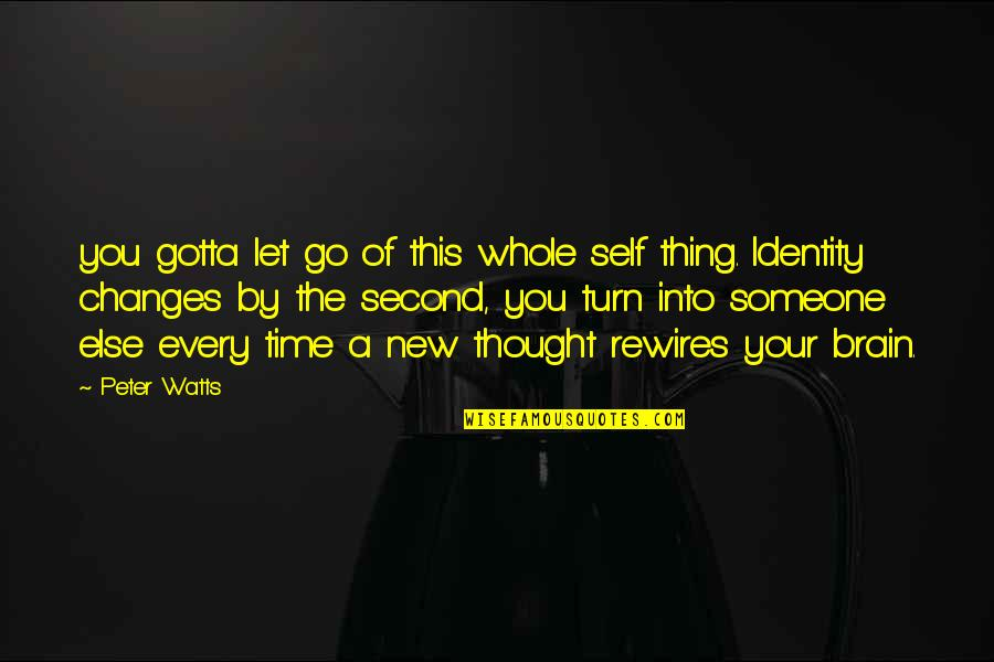 All Claptrap Quotes By Peter Watts: you gotta let go of this whole self