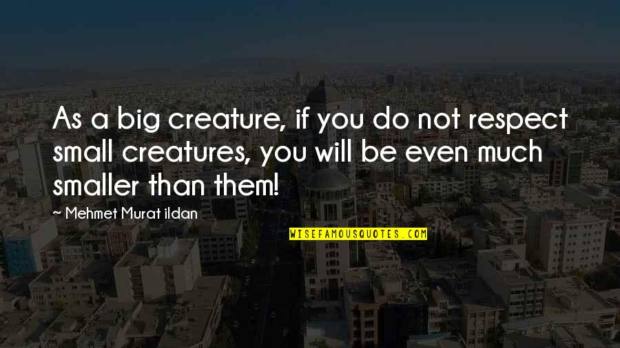 All Creatures Big And Small Quotes By Mehmet Murat Ildan: As a big creature, if you do not