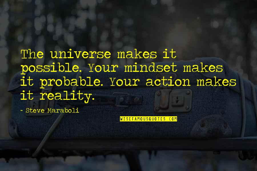 All Dreams Are Possible Quotes By Steve Maraboli: The universe makes it possible. Your mindset makes