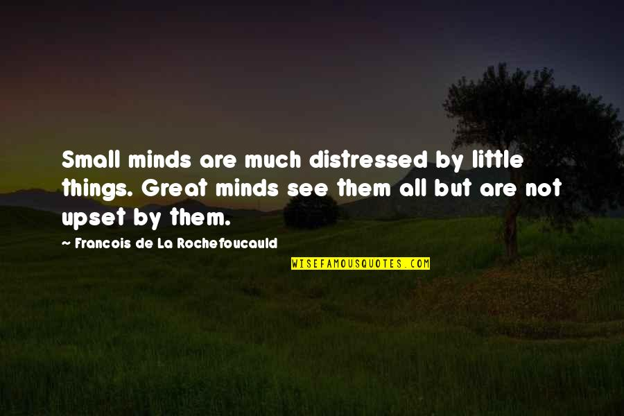 All Great Things Quotes By Francois De La Rochefoucauld: Small minds are much distressed by little things.
