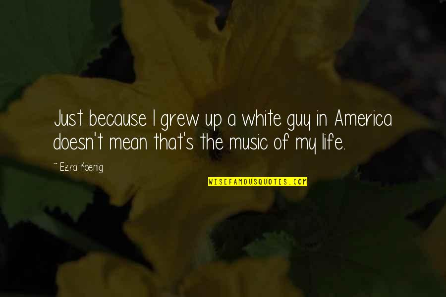 All I Am Is Because Of You Quotes By Ezra Koenig: Just because I grew up a white guy