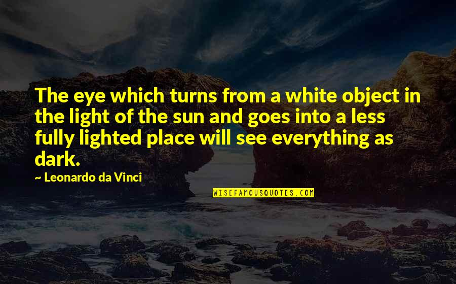 All Seeing Eye Quotes By Leonardo Da Vinci: The eye which turns from a white object
