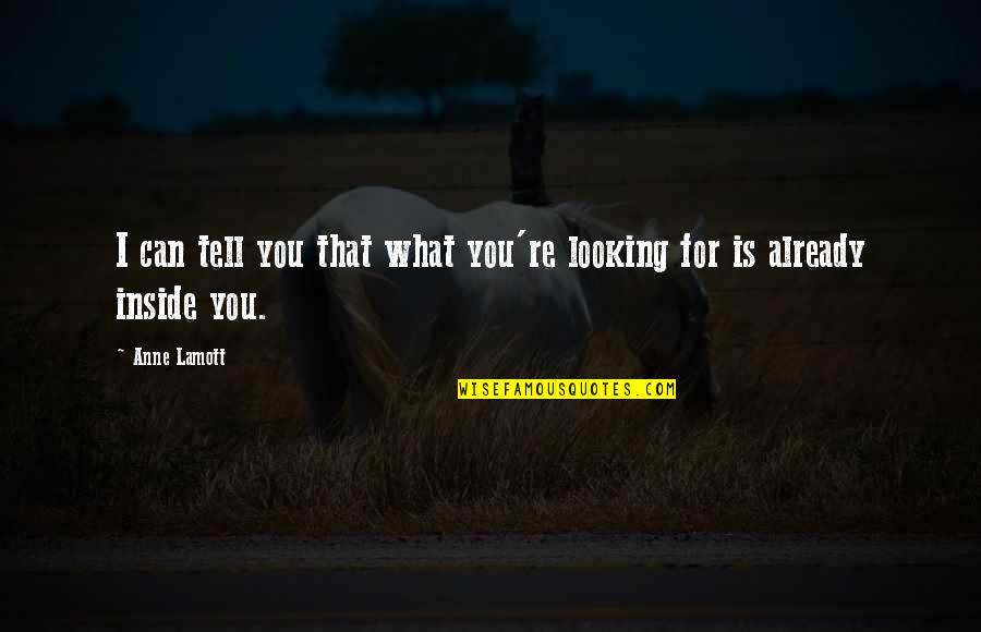All Souls Day Quotes By Anne Lamott: I can tell you that what you're looking