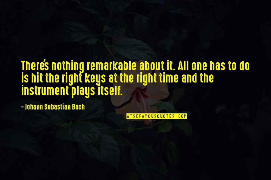 All Time Hit Quotes By Johann Sebastian Bach: There's nothing remarkable about it. All one has