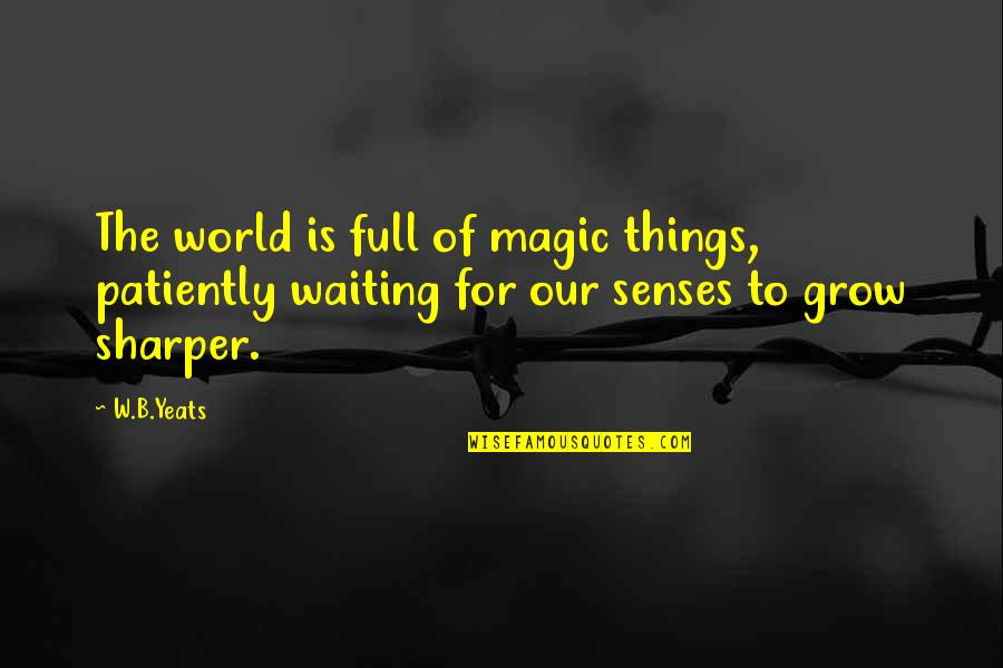All Types Of Friendship Quotes By W.B.Yeats: The world is full of magic things, patiently