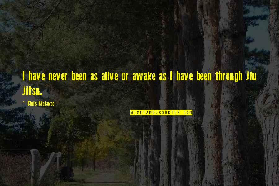 All We Have Been Through Quotes By Chris Matakas: I have never been as alive or awake