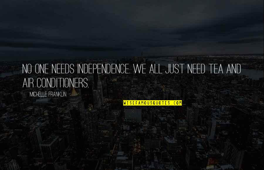 All We Need Quotes By Michelle Franklin: No one needs Independence. We all just need