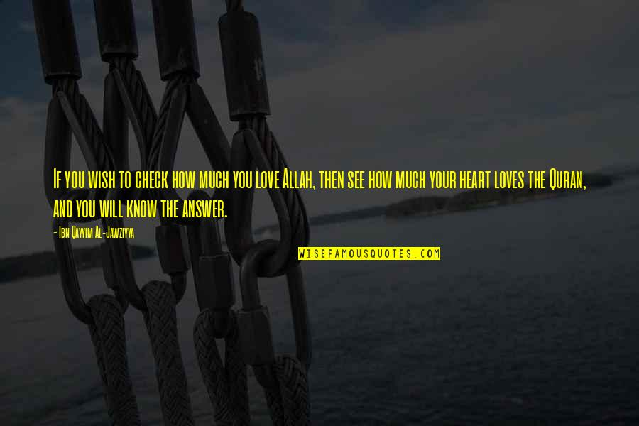 Allah In My Heart Quotes By Ibn Qayyim Al-Jawziyya: If you wish to check how much you