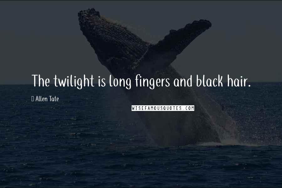 Allen Tate quotes: The twilight is long fingers and black hair.