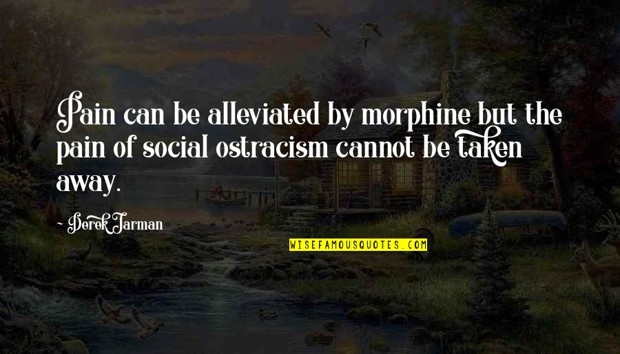 Alleviated Quotes By Derek Jarman: Pain can be alleviated by morphine but the