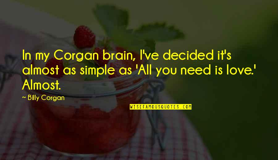 Almost Love You Quotes By Billy Corgan: In my Corgan brain, I've decided it's almost