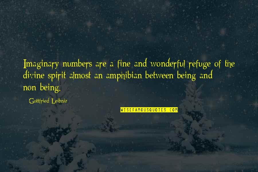 Almost Quotes By Gottfried Leibniz: Imaginary numbers are a fine and wonderful refuge