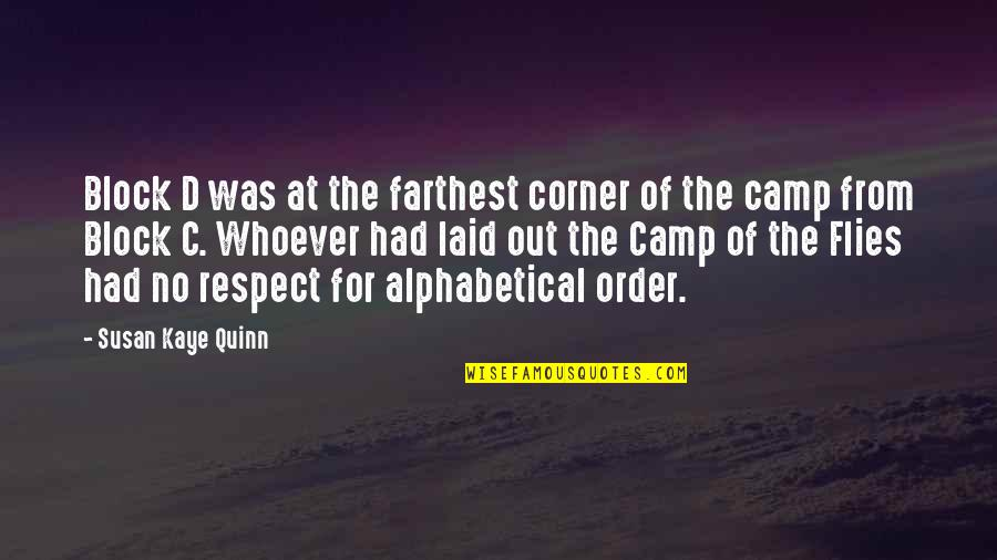 Alphabetical Quotes By Susan Kaye Quinn: Block D was at the farthest corner of