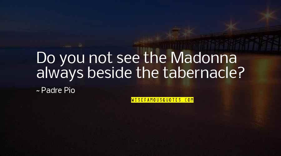 Always Be Beside You Quotes By Padre Pio: Do you not see the Madonna always beside