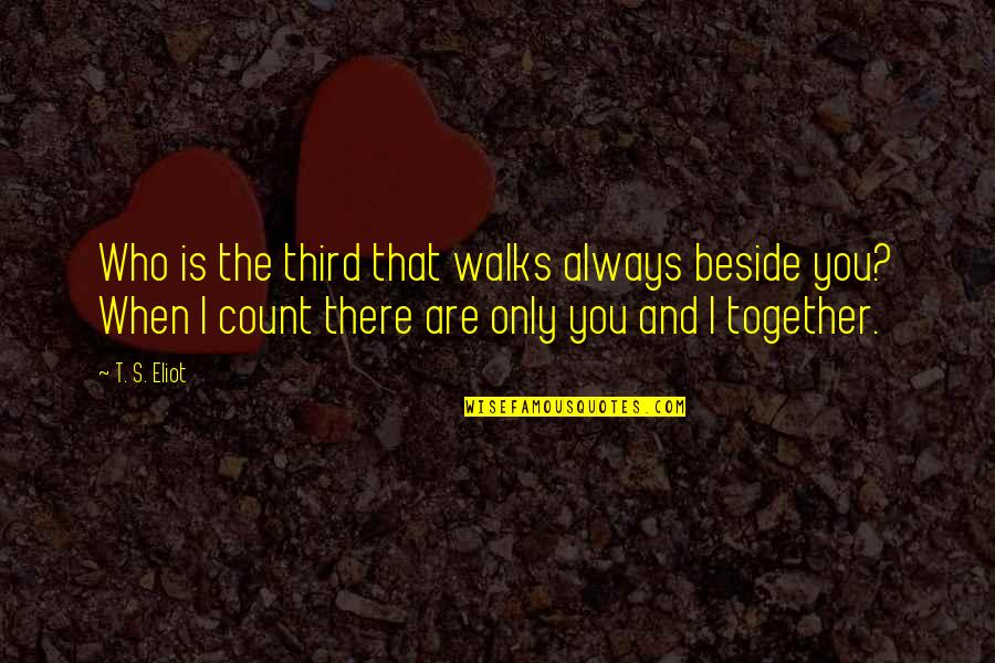 Always Be Beside You Quotes By T. S. Eliot: Who is the third that walks always beside