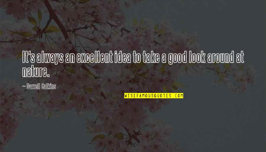 Always Look For The Good Quotes By Darrell Calkins: It's always an excellent idea to take a